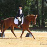 Kathryn Poos riding Razzle
